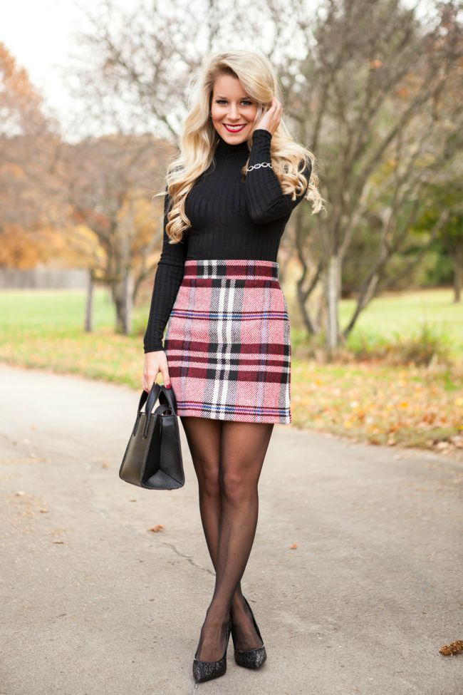 Festive Skirt + Sparkle Pumps