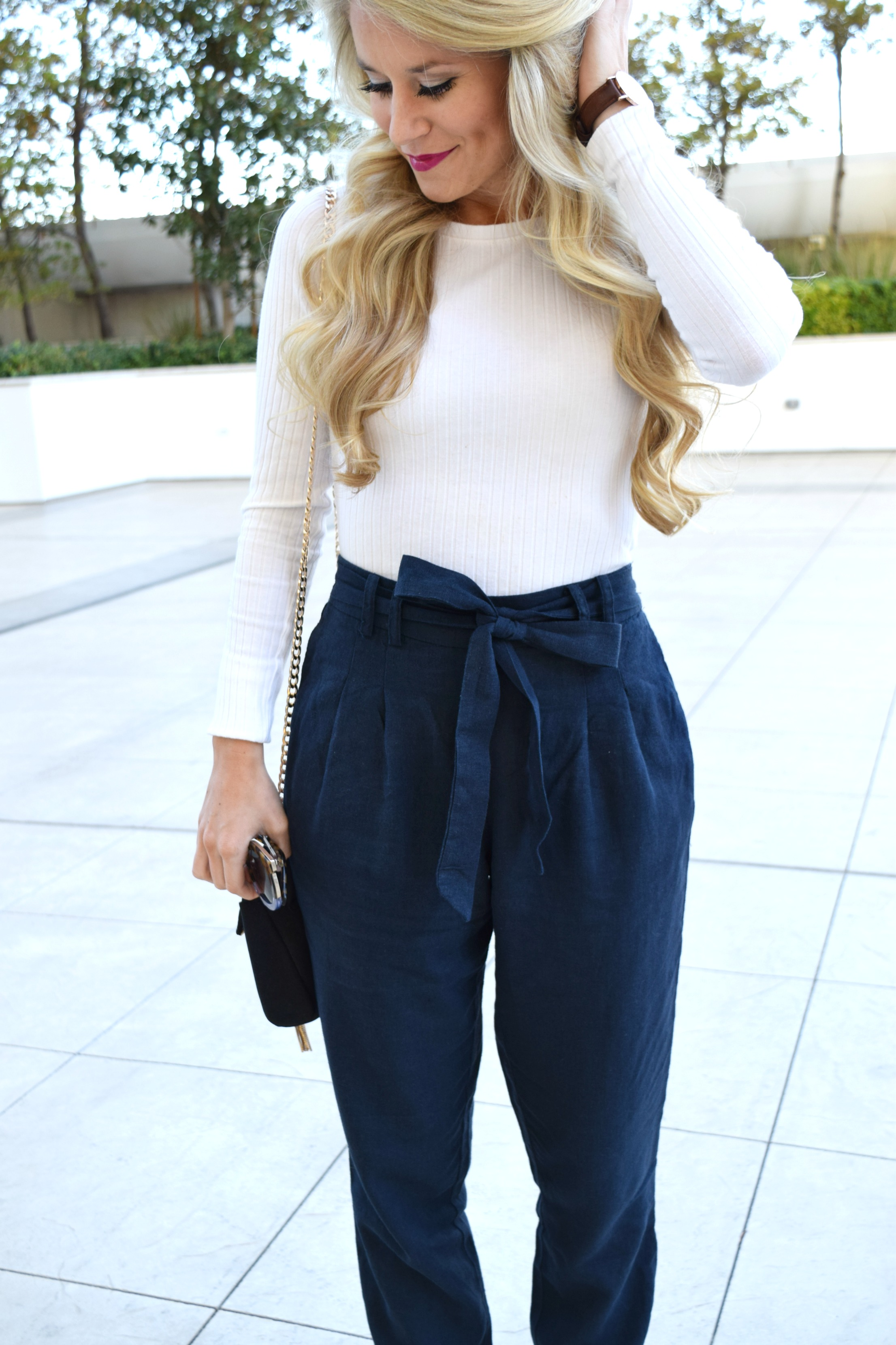 on sale online durable modeling shop for best High-Waisted Tie Pants - Welcome to Olivia Rink