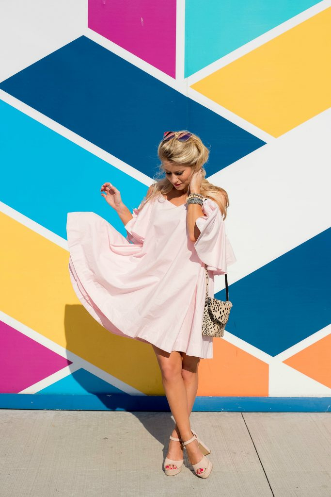 Flirty Pink Ruffle Dress
