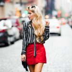 NYFW 2: Suede Skirt + Chic Stripes