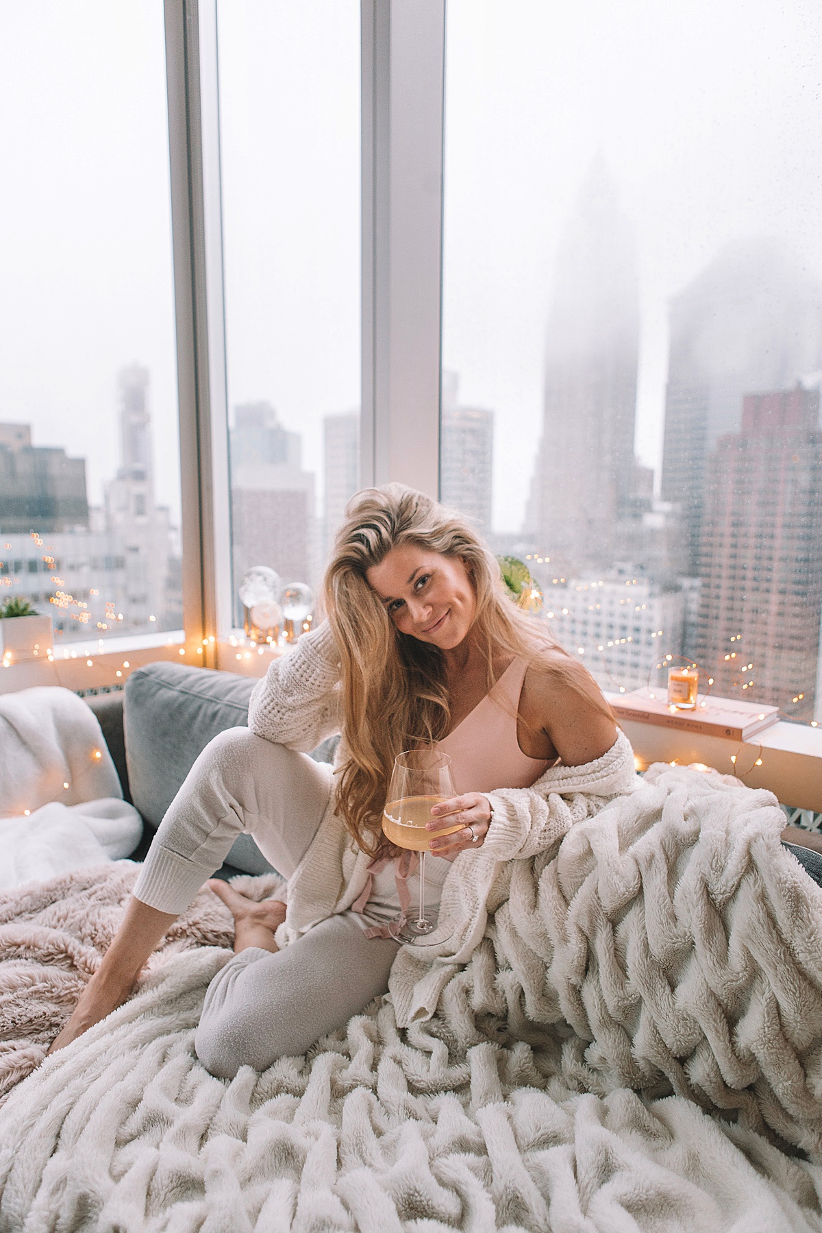 nyc apartment, social distancing, quarantine, self care blog, stay home, comfy clothes, west elm, olivia rink, olivia rink apartment, city apartment, apartment decor